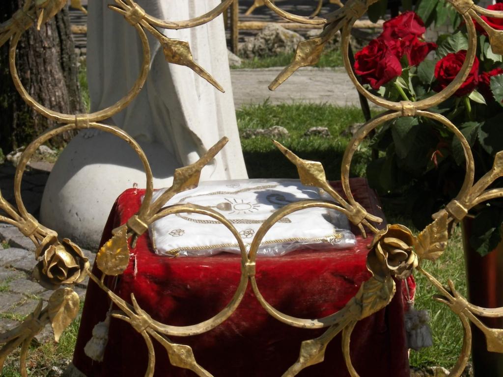 Sgabello nel recinto sul quale Gesù venne a sedersi